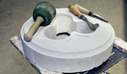 Poste de travail tailleur de pierre