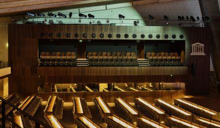 Large auditorium of UNESCO